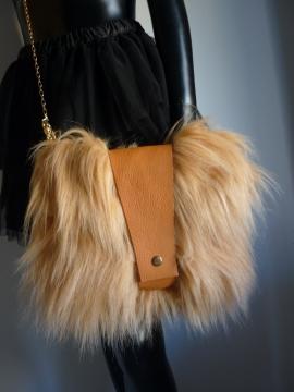 Tasche Fell mit Leder
